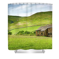 Peak Farm Shower Curtain