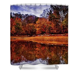 Shower Curtain featuring the photograph Peak? Nope, Not Yet by Edward Kreis