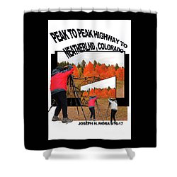 Peak To Peak Highway Shower Curtain