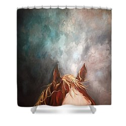 Peakabo  Shower Curtain