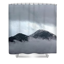 Peaking Through The Clouds Shower Curtain