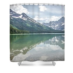 Peaks At Lake Josephine Shower Curtain