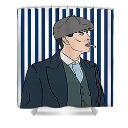 Peaky Blinders Shower Curtain by Nicole Wilson