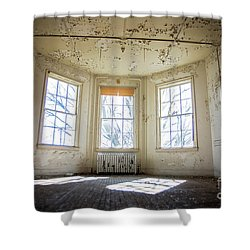 Shower Curtain featuring the photograph Pealing Walls by Randall Cogle