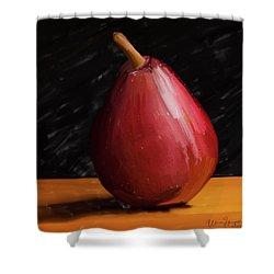 Pear 01 Shower Curtain by Wally Hampton