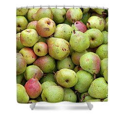 Pear Harvest Shower Curtain