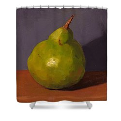 Pear With Gray Shower Curtain