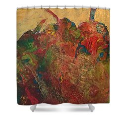Pearfection Shower Curtain by Gail Butters Cohen