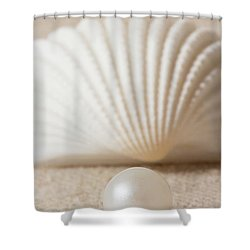 Pearl And Shell Shower Curtain