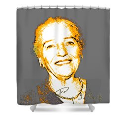 Pearl Buck Shower Curtain by Asok Mukhopadhyay