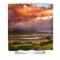 Pearl Harbor Sunset Shower Curtain