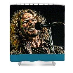 Pearl Jam Eddie Vedder Collection Shower Curtain by Marvin Blaine