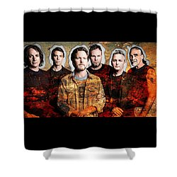 Shower Curtain featuring the mixed media Pearl Jam by Marvin Blaine