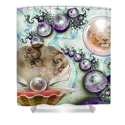 Shower Curtain featuring the digital art Pearl Of Great Price by Dolores Develde