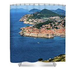 Pearl Of The Adriatic, Dubrovnik, Known As Kings Landing In Game Of Thrones, Dubrovnik, Croatia Shower Curtain