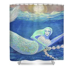 Pearl Of The Sea Shower Curtain by Lyric Lucas