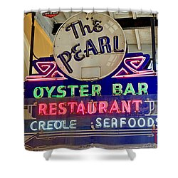 Pearl Oyster Bar Shower Curtain