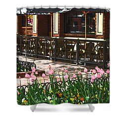 Pearl Street Mall Shower Curtain by Colleen Coccia