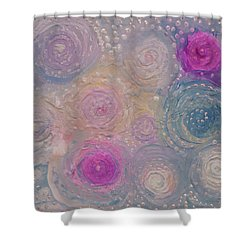 Pearlescent Painting Shower Curtain