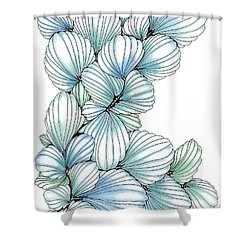 Pearlescent Plume Shower Curtain