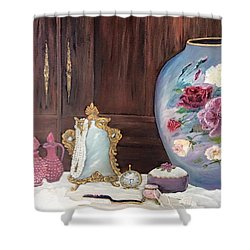 Pearls And Lace Shower Curtain