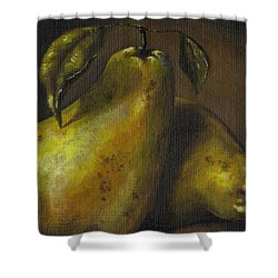 Pears Shower Curtain by Adam Zebediah Joseph