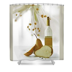 Shower Curtain featuring the photograph Pears Blossom by Ann Lauwers