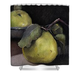 Pears Stilllife Painting Shower Curtain