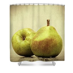 Pears Shower Curtain by Wim Lanclus