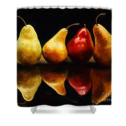 Pearsfect Shower Curtain by Laurie Hein