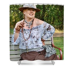 Peasant Allure Shower Curtain by VLee Watson