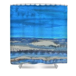 Shower Curtain featuring the painting Peau De Mer by Marc Philippe Joly