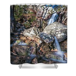 Shower Curtain featuring the photograph Peavine Falls by Andy Crawford
