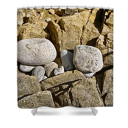 Pebble Pocket Photo Shower Curtain