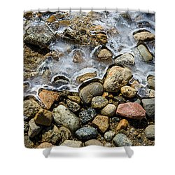 Pebbles And Ice Shower Curtain