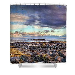 Pebbles And Sky  #h4 Shower Curtain