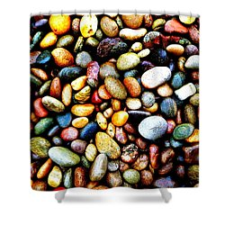 Pebbles On A Beach Shower Curtain