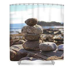 Peceful Zen Rocks Shower Curtain