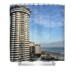 Peck Plaza Shower Curtain