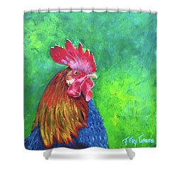 Morning Rooster Shower Curtain