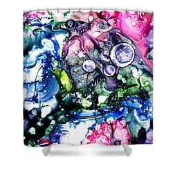 Pedantic - Gigantic - Atlantic   Shower Curtain by Sir Josef - Social Critic -  Maha Art