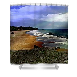 Pedasi Beach, In The Dry Arc Of Panama Shower Curtain