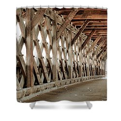 Pedestrian Bridge Guelph Ontario Shower Curtain