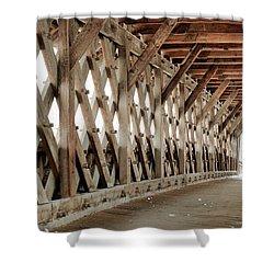 Pedestrian Bridge Guelph Ontario Shower Curtain