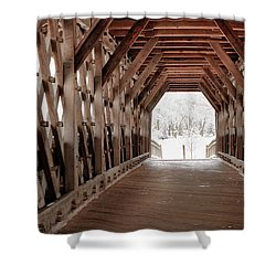 Pedestrian Lattice Bridge Shower Curtain