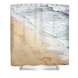 Shower Curtain featuring the photograph Pedn Vounder by Lyn Randle