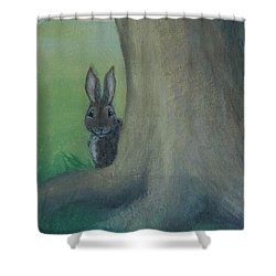 Peek A Boo Behind The Tree Shower Curtain