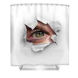 Peek Through A Hole Shower Curtain