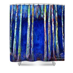 Peeking Through The Trees Shower Curtain by Claire Bull