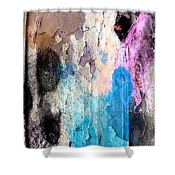 Peeling Paint Shower Curtain by Jessica Wright